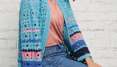 Stitch Repeat Berry Stitch Free Crochet Pattern - Right Handed - image Blazenka-Simic-Boro-Hummingbird-Cardigan-Cygnet-Pure-Wool-Superwash-DK-2-1-683x1024-384x220 on https://knitting-crocheting-yarn.com