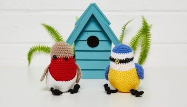 Free Pattern! Bill & Ted - Easter Chickens - image Irene-Strange-RSPB-RSPB-bird-kit-2-1024x768-384x220 on https://knitting-crocheting-yarn.com