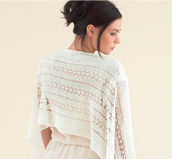 The Sublime Jasmine Lace Wrap - from the back