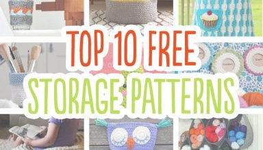 Top 10 crochet storage ideas with FREE patterns - image free-storage-patterns-10-crochet-1024x816-384x220 on https://knitting-crocheting-yarn.com