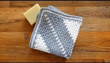 Corner-to-Corner Moss Stitch Washcloth - FREE Crochet Pattern by Yay For Yarn - image 1556232887_hqdefault-384x220 on https://knitting-crocheting-yarn.com