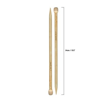 Set of 32 Bamboo Knitting Needle by Curtzy - 16 Pairs of Wooden Knitting Needles with Storage Case - Ideal for Sweaters, Lace & Flower Projects - The Best Set for Beginner and Professional - image 31-FCvBlORL-400x400 on https://knitting-crocheting-yarn.com