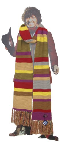 Doctor Who Scarf - Official BBC Doctor Who Scarf - Fourth Doctor Scarf Full Size by Lovarzi - image 417ePffNRzL on https://knitting-crocheting-yarn.com
