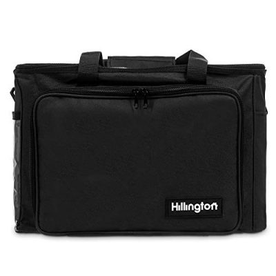 Hillington ® Knitting Storage Bag - Premium Heavy Duty Spacious Lightweight Nylon Carry All Tote Case for Holding and Organising Yarn, Wool, Needles, Crochet Hooks and Other Knitting Supplies - image 41Cq9UrTZTL-400x400 on https://knitting-crocheting-yarn.com