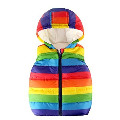 Kobay Baby Unisex Gilets, Toddler Kids Baby Grils Boys Sleeveless Strip Rainbow Hooded Warm Waistcoat Top Outwear Clothes Suit for 1-6 Years - image 41OKZVr+PCL-400x400 on https://knitting-crocheting-yarn.com