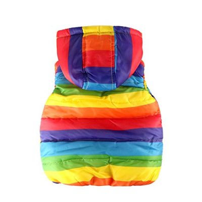 Kobay Baby Unisex Gilets, Toddler Kids Baby Grils Boys Sleeveless Strip Rainbow Hooded Warm Waistcoat Top Outwear Clothes Suit for 1-6 Years - image 41Wh7xlELJL-400x400 on https://knitting-crocheting-yarn.com