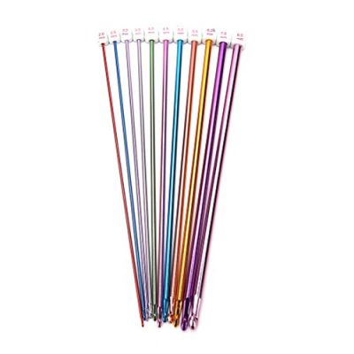 BESTIM INCUK 11 Pieces Tunisian Afghan Crochet Hooks Aluminum Knitting Needles Set, Multicolor, 2 mm to 8 mm - image 41lD-RjZOaL-400x400 on https://knitting-crocheting-yarn.com