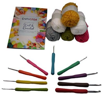 Ergonomic Crochet Hooks Set by Crafty Casa UK - 9 pcs with Colourful Soft Grip Rubber Handle, DK Knitting Yarn Pack, Beginners Learn to Guide (Sizes 2.0 2.5 3.0 3.5 4.0 4.5 5.0 5.5 6.0 mm) - image 41u3PTKUsOL-400x359 on https://knitting-crocheting-yarn.com
