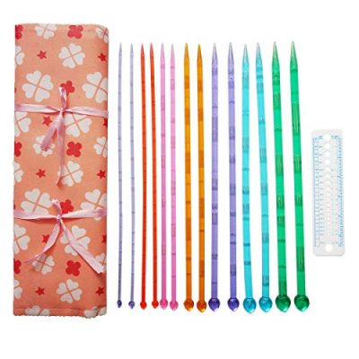 14 Pairs Single Pointed Acrylic Knitting Needles Set, 35 cm Long for Sweater Shawl Scarf Knitting Weave Craft 10mm 9mm 8mm 7mm 6mm 5mm 4mm - image 5110P823q3L-400x400 on https://knitting-crocheting-yarn.com