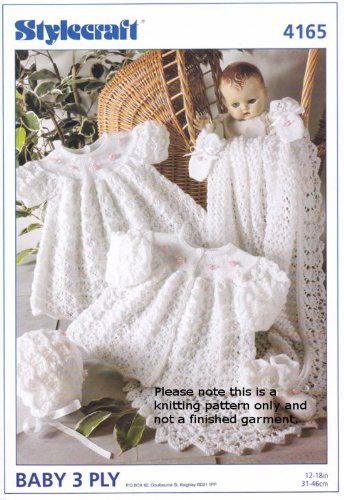 Stylecraft 3 Ply Knitting Pattern - 4165 Baby Outfit [Baby Product] - image 513MWCqQ-6L on https://knitting-crocheting-yarn.com