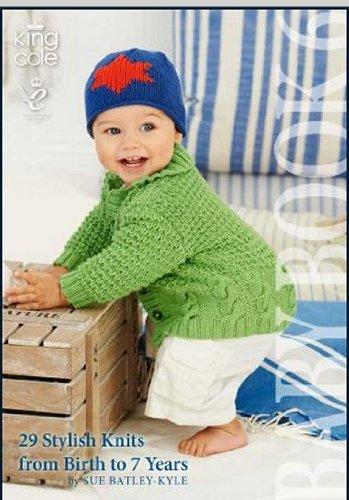 King Cole Knitting Pattern Baby Book 6 : 29 Stylish Knits From Birth To 7 Years - image 51HwT+pdJqL on https://knitting-crocheting-yarn.com