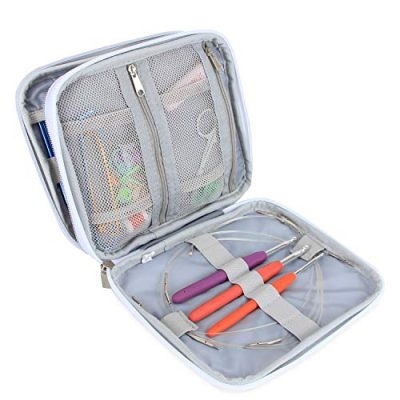 Teamoy Organiser Case for Interchangeable Circular Knitting Needles, Ergonomic Crochet hooks, Aluminum Crochet Hooks, Knitting Accessories and More-NO Accessories Included, Cats Pink - image 51Vk9C4CnyL-400x400 on https://knitting-crocheting-yarn.com