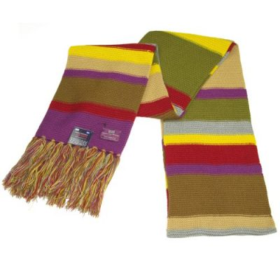 Doctor Who Scarf - Official BBC Doctor Who Scarf - Fourth Doctor Scarf Full Size by Lovarzi - image 51YrGKPVWfL-400x400 on https://knitting-crocheting-yarn.com