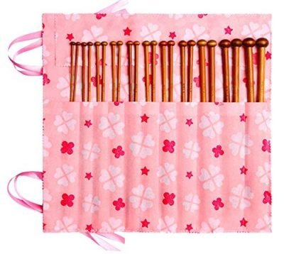 Bamboo Knitting Needles Set Knitting Needle Case Knitting Kits for Beginners - image 51ZRDSq45lL-400x358 on https://knitting-crocheting-yarn.com