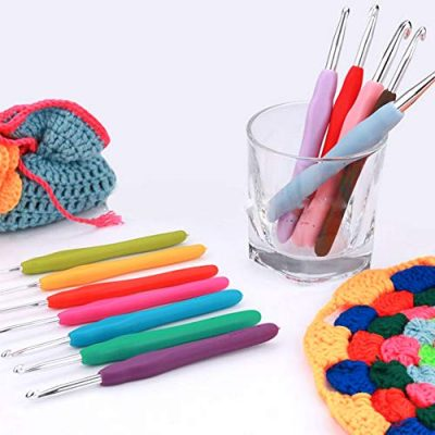 Quemu Co.,Ltd. Crochet Hooks Set - Ergonomic Soft Grip Handles Knitting Needles Weave Set for Arthritic Hands 2-8mm Multi-color 12Pcs - image 51bBEpxjeHL-400x400 on https://knitting-crocheting-yarn.com