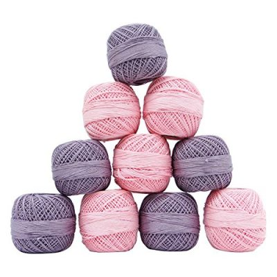 Indianbeautifulart Set Of 10 Pcs Cotton Crochet Spun Skein Yarn Thread Ball Knitting Embroidery - image 51eV-of1O-L-400x400 on https://knitting-crocheting-yarn.com