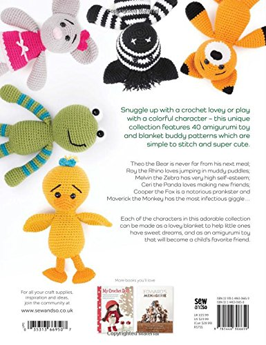 Snuggle and Play Crochet: 40 amigurumi patterns for lovey security blankets and matching toys - image 51g1epCrR0L on https://knitting-crocheting-yarn.com