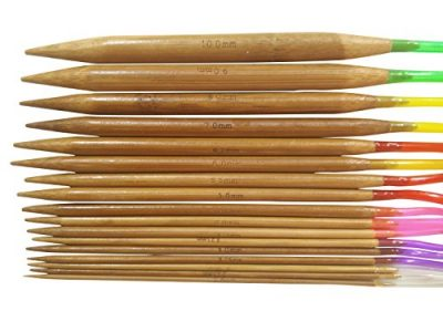 Tmade 18 Pairs 40cm Carbonized Bamboo Circular Knitting Needles 2.0mm to 10.0mm with Colorful Plastic Tube Yarn Weave Craft Knit kit - image 51lAPuVfSIL-400x300 on https://knitting-crocheting-yarn.com