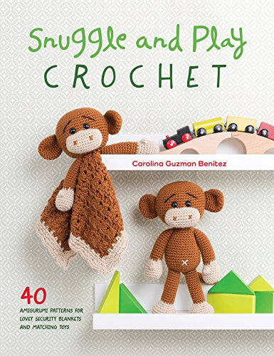 Snuggle and Play Crochet: 40 amigurumi patterns for lovey security blankets and matching toys - image 51owVjwHhKL on https://knitting-crocheting-yarn.com