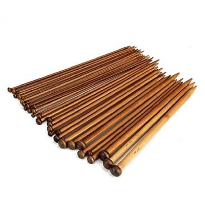 Gemini_mall 18 set Single Point Bamboo Knitting Needles, 2mm-10mm, 25cm (9.8 Inch), 36 Knitting Needles - image 51sAPqYHoTL-400x400 on https://knitting-crocheting-yarn.com