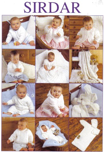 Sirdar The Essential Baby and Children's Knitting Pattern Book: 19 items from Birth to age 6 years (Blankets, Cardigans, Hats, Bonnet, Jackets, Dress, Shawl, Sweaters, Sleeping Bag, Matinee Coat, All In One) - image 51vFL6OujzL on https://knitting-crocheting-yarn.com