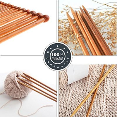 Bamboo Knitting Needles Set Knitting Needle Case Knitting Kits for Beginners - image 61LbkxkawoL-400x400 on https://knitting-crocheting-yarn.com