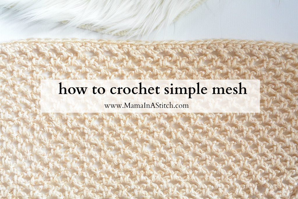 Pretty & Simple Crochet Stitches To Try - image How-To-Crochet-Simple-Mesh-1024x685 on https://knitting-crocheting-yarn.com