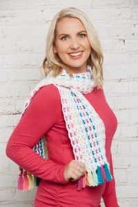 Crochet Now 39 - Take a look inside the latest issue of Crochet Now! - image Jane-Howarth-Shine-Your-LIght-Scarf-WYS-Bo-Peep-DK-3-200x300 on https://knitting-crocheting-yarn.com