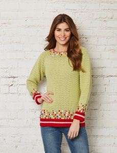 Crochet Now 39 - Take a look inside the latest issue of Crochet Now! - image Murray-Stewart-Spring-in-Time-Sweater-Patons-Merino-Extrafine-1-229x300 on https://knitting-crocheting-yarn.com