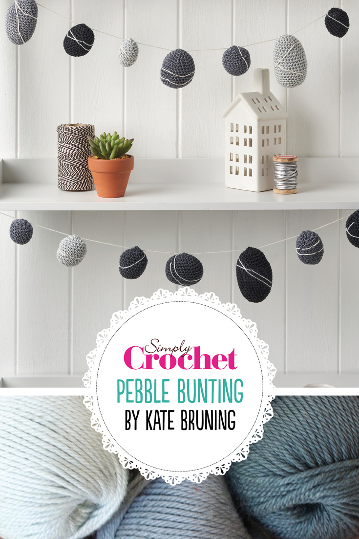 In this months crochet colour class we're going grey with marvellous monochrome. In issue 81 Kate Bruning tells us all about this colour scheme and helps you delve into the many shades of grey with her fab pebble bunting!