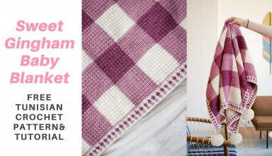 Sweet Gingham Baby Blanket *FREE TUNISIAN CROCHET PATTERN W/ STEP-BY-STEP TUTORIAL* - image 1557272874_maxresdefault-384x220 on https://knitting-crocheting-yarn.com
