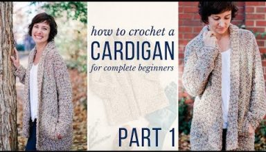 Learn to Crochet a Cardigan - Free Crochet Pattern & Video Tutorial for Beginners! (Part 1) - image 1557792187_hqdefault-384x220 on https://knitting-crocheting-yarn.com