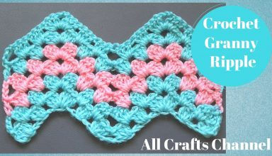 How to Crochet Granny Ripple Pattern - image 1558138810_maxresdefault-384x220 on https://knitting-crocheting-yarn.com