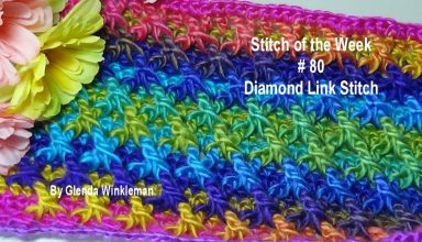 Stitch of the Week # 80 Diamond Link Stitch - Crochet Tutorial - image 1558831630_maxresdefault-384x220 on https://knitting-crocheting-yarn.com