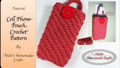 Full Tutorial: Cell Phone Pouch Crochet Pattern - image 1559091315_hqdefault-384x220 on https://knitting-crocheting-yarn.com
