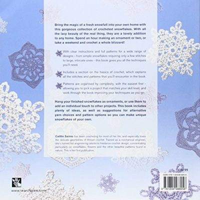 100 Snowflakes to Crochet: Make Your Own Snowdrift: To Give or For Keeps - image 513j9UVCV2L-400x400 on https://knitting-crocheting-yarn.com
