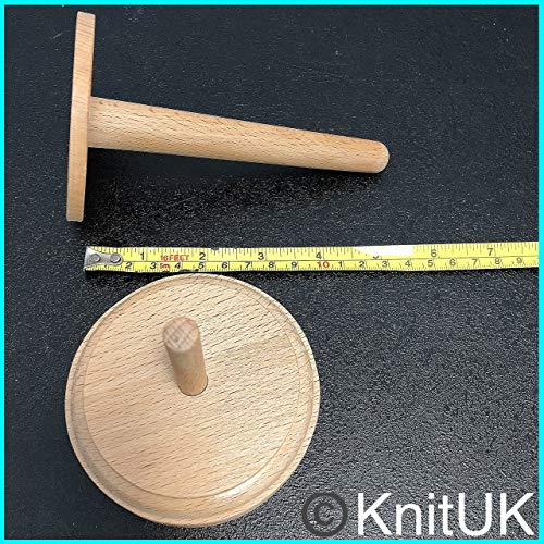 Classic Knit Wooden Spinning Yarn and Thread Holder