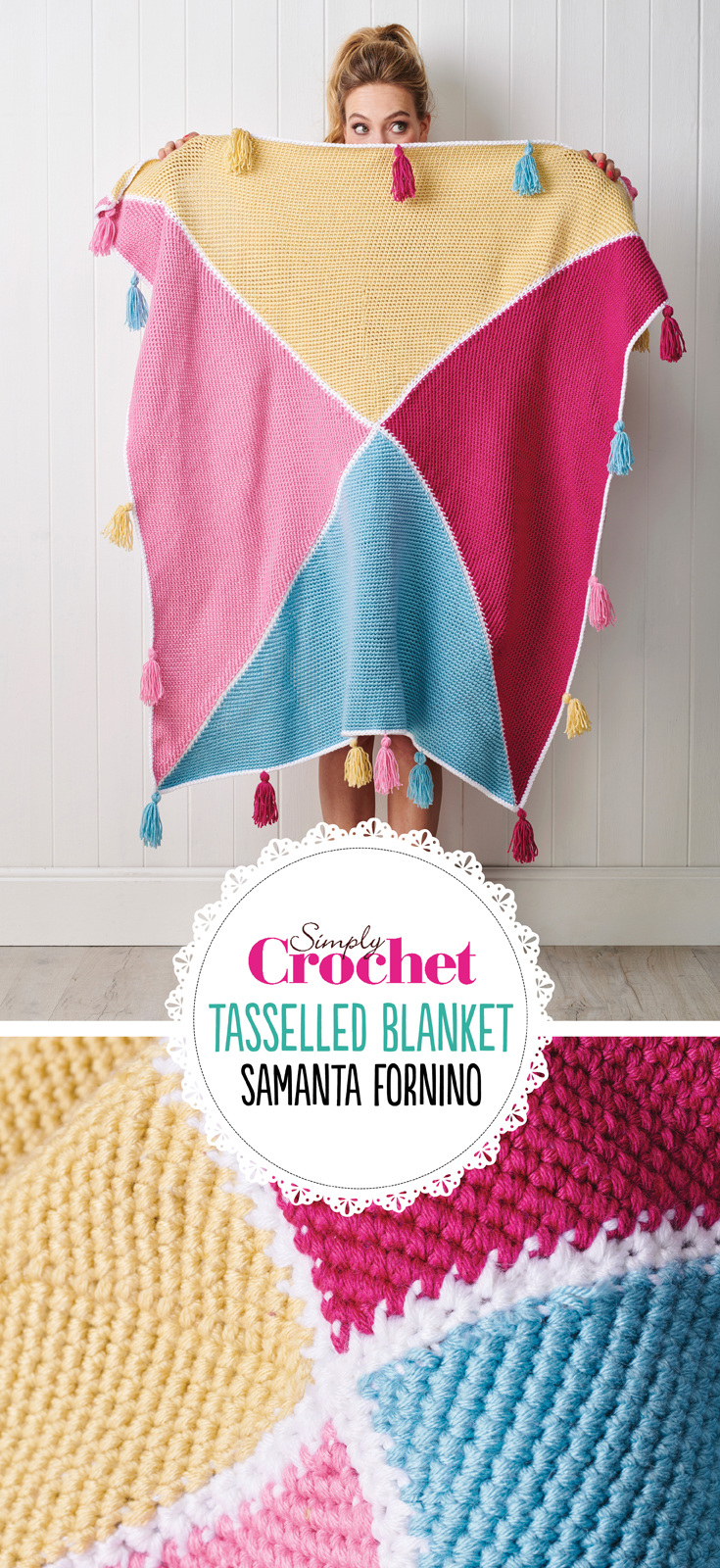 Oh we do love a tassel or two… or in the case of this splendid creation, 20. Yes, bring it on! We can see this blanket is going to be our go-to summer number for lazing in the garden, picnicking with friends, and dancing round the living room pretending we're in Strictly! (Surely everyone does that… don't they?!)