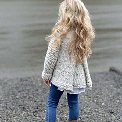 Kobay Baby Girl Outerwear Toddler Kids Baby Girls Outfit Clothes Button Knitted Sweater Cardigan Coat Tops Clothing for 1-8 Years - image 51DRW-4DAWL-400x400 on https://knitting-crocheting-yarn.com