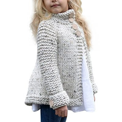 Kobay Baby Girl Outerwear Toddler Kids Baby Girls Outfit Clothes Button Knitted Sweater Cardigan Coat Tops Clothing for 1-8 Years - image 51Ndh+O5wNL-400x400 on https://knitting-crocheting-yarn.com