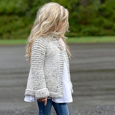 Kobay Baby Girl Outerwear Toddler Kids Baby Girls Outfit Clothes Button Knitted Sweater Cardigan Coat Tops Clothing for 1-8 Years - image 51o3HRoSryL-400x400 on https://knitting-crocheting-yarn.com