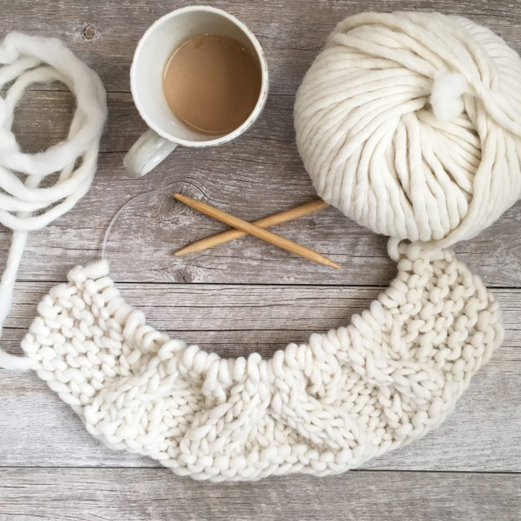 Easy Winding Cables Wrap Knitting Pattern – Mama In A Stitch - image on https://knitting-crocheting-yarn.com