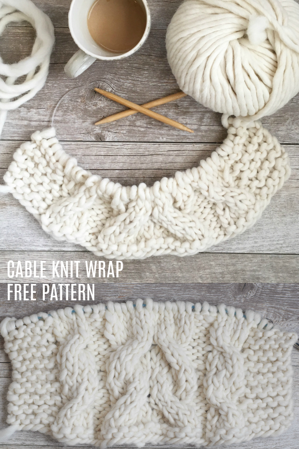 Easy Winding Cables Wrap Knitting Pattern – Mama In A Stitch - image Cable-Knit-Wrap-Free-Knitting-Pattern on https://knitting-crocheting-yarn.com