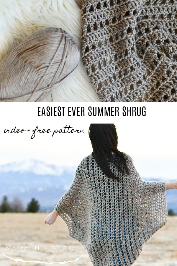 How To Crochet An Easy Summer Shrug – Mama In A Stitch - image Free-Summer-Crochet-Top-Pattern-Tutorial on https://knitting-crocheting-yarn.com