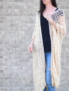 How To Crochet An Easy Summer Shrug – Mama In A Stitch - image Summer-Breeze-Crochet-Poncho-6-228x300 on https://knitting-crocheting-yarn.com