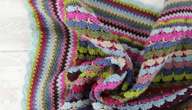 Knit and Stitch Blog from Black Sheep Wools » Blog Archive Button Box Blanket - image button_box2-384x220 on https://knitting-crocheting-yarn.com