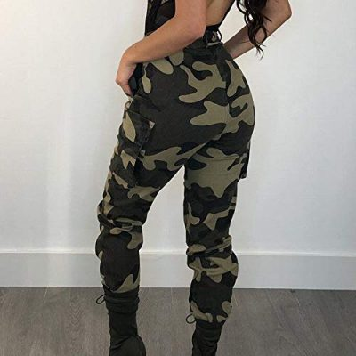 SANFASHION 2019 Sexy Loose Gift Girlfriend Women Cool Camo Cargo Trousers Casual Pants Military Combat Camouflage Pants - image 41gkTCGOpkL-400x400 on https://knitting-crocheting-yarn.com
