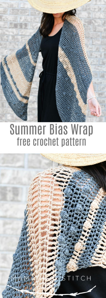 Santa Monica Bias Wrap Crochet Pattern – Mama In A Stitch - image Bias-Wrap-Shawl-Cover-Up-Crochet-Pattern-for-Summer-366x1024 on https://knitting-crocheting-yarn.com