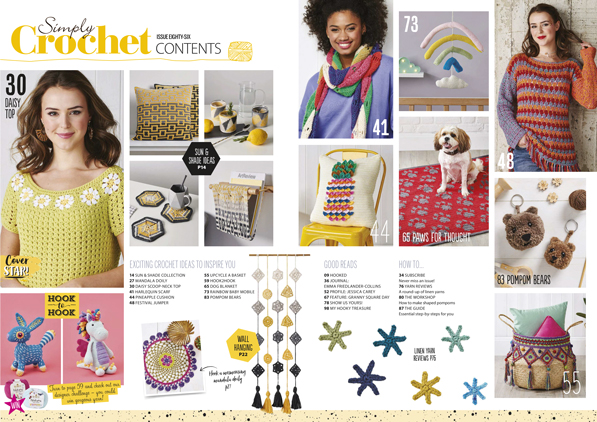 Simply Crochet issue 86 contents