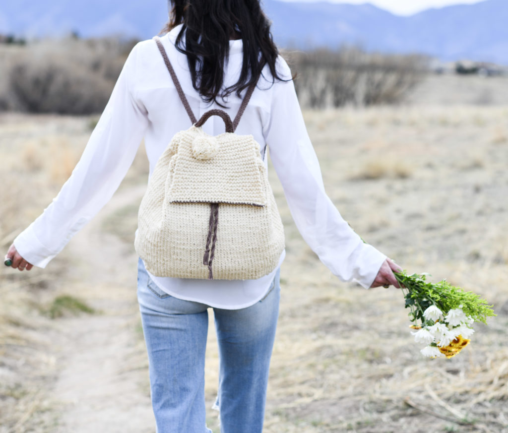 How To Knit A Backpack - image Straw-Knit-Backpack-Easy-Pattern-9-1024x873 on https://knitting-crocheting-yarn.com